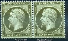 FRANCE EMPIRE PAIRE N° 19 NEUF ** SANS CHARNIERE COTE 450€ A VOIR