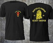 NEW HUNTER OF GUNMEN SCOUT SNIPER USMC T SHIRT SIZE S-4XL