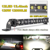 34cm 120W Flood LED Work Light Bar Post Car SUV Off Road Roof Driving Fog Lamp
