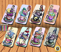 Disney Princess Teacup for Flip iPhone 11 Samsung Galaxy And Huawei Wallet Case