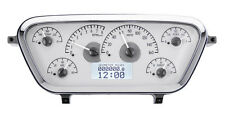 Dakota Digital 53 54 55 Ford Pickup Analog Gauge Kit Silver White VHX-53F-PU-S-W