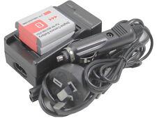 2x Battery + Charger for Sony NP-BG1 DSC-H9 H90 HX10V HX20V HX30V HX5B HX5V HX7V