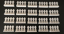 ☀️NEW 20 BRAND NEW LEGO HOUSE FARM WHITE PICKET FENCE GARDEN CITY CREATOR 4x2x1