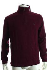 BNWT Ralph Lauren Men's Bourgogne 1/2 Zip Sueded Rib Cotton Jumper RRP £ 120