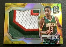 #/10 Jabari Parker 2014-15 Panini Spectra Gold Player-Worn Material Patch RC