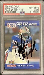 John Taylor Signed 1986 Pro Set #421 Football Card 49ers Autograph SB PSA/DNA