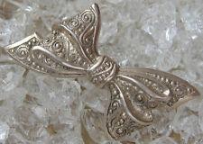 Nouveau Spilla Fiocco In da donna in argento antico loop brooch Antique Silver