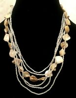 Womens Ladies Statement Multi Coloured Bead Beads Beaded Faux Stone Necklace