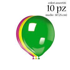 PALLONCINI IN LATTICE 10 pz sfusi medi Colori Assortiti addobbi festa compleanno