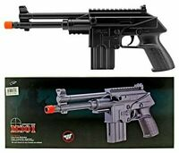 Double Eagle Spring Airsoft Pistol Hand Gun M301F SMG w/ 6mm BBs - 140 ROUND MAG