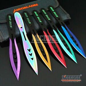 "6PC 6.75"" STAR WAR Super Sharp Assorted Technicolor  Knife Set +Sheath"