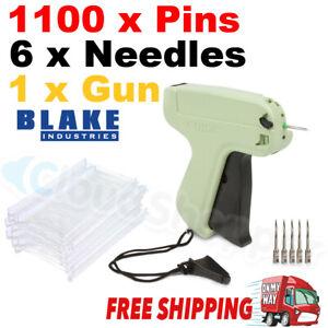 Clothes Garment Price Label Tagging Tags Gun Machine+1100 Barbs+6 Steel Needles