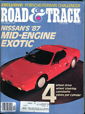 Road & Track Magazine December 1985 Nissan's '87 Mid-Engine VGEX 010516jhe