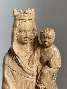 Statue vierge à L'enfant Bois Marie Jesus