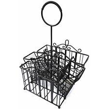 Portable Wrought Iron Dinnerware Caddy - Indoor/Outdoor