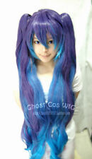 Vocaloid2 ANTI-THE HOLiC miku Long Blue Mix Purple Cosplay Wig