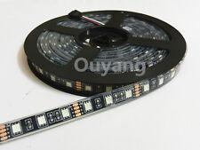 5M 300LEDS 5050 SMD RGB LED Strip Flex Light 60led/M Waterproof IP68 black PCB
