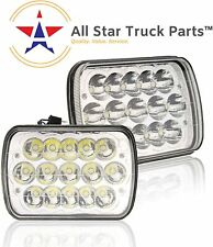 "Pair 7x6"" inch CREE 15 LED Replace H6054 Headlights High/Low Beam 6000K 45W MACK"