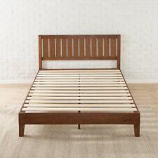Solid Wood Platform Bed Frame Queen Size Headboard Bedroom Furniture Espresso