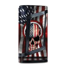 Skin Decal for Smok Alien 220w TC Vape Mod with Grip-Guard / America Skull Mili