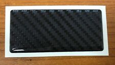 CARBON FIBRE EFFECT Sticker/Decal - 75mm HIGH GLOSS DOMED GEL FINISH