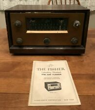Vintage THE FISHER Series 80 Model 80-T Tube Radio 1958 - Powers On with Manual