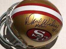Dave Wilcox AUTO NFL MINI HELMET w/# 74 & HOF 00 SF 49ers COA