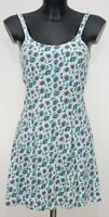 Summer White Blue Fit and Flare Tea Floral Dress Size 8 UK