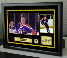"Wayne Gretzky Hockey Ltd Edition Framed Canvas Tribute Print Signed ""Great Gift"""
