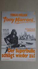 Q332 - PLAKAT - TONY MARRONI Der Superbulle schlägt wieder zu - TOMAS MILIAN