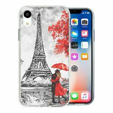For Apple iPhone XR Silicone Case Red Paris Nature - S6310