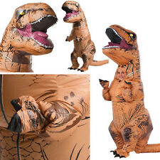 HOT ADULT T-REX INFLATABLE Costume Jurassic World Park Blowup Dinosaur Xmas PTY#