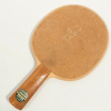 VINTAGE OFFICIAL FIRESTONE 5 PLY TABLE TENNIS PING PONG PADDLE BAT W/ CORK FACES