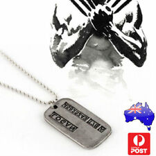 Wolverine Logan Military Necklace X-Men Dog Tag 50cm chain %7c Brushed Steel