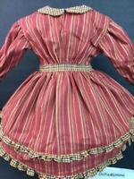 American Girl Addy Striped School Dress Pleasant Company Tag~Historical Retired