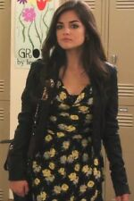 Topshop Black Yellow Rose Floral Vtg 60s Celeb Shift Tulip Skater Dress 12 8 40