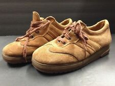 Vintage 70's Shoes Brown Shoes Women's Closed Toe Suede