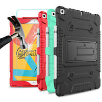 For iPad 7th Generation 10.2 inch 2019 Screen Protector+Tablet Stand Case Cover