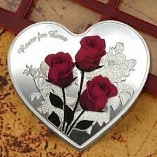 Heart Love Shaped Commemorative Coin Collection Coins Souvenir Art Collectible