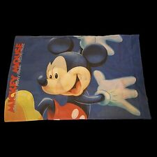 Vintage Big Mickey Mouse Pillow Case Disney Rare