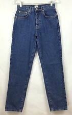 Calvin Klein Womens Size 7 Jeans Vintage Button Fly 100% Cotton High Waist MOM