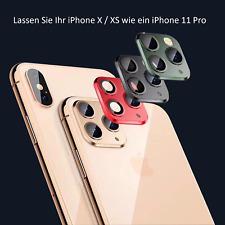 Kamera iPhone XS X Max Fake Objektiv Sticker Aufkleber Schutz Abdeckung Schwarz