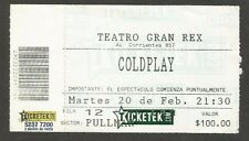 Argentina Coldplay Concert Ticket Stub 2005