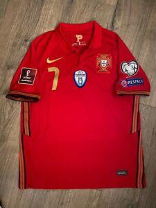 2020-21 Nike Portugal #7 Cristiano Ronaldo Portugal Home Red Jersey Stadium M