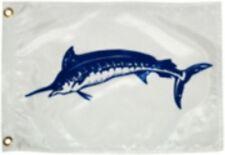 """New Blue Marlin Flag Nylon 12"""" X 18"""" Novelty Boat TAY 2918"""