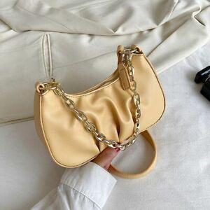 Luxury Women Shoulder Bag Ladies Fashion Baguette Handbag Faux Leather Underarm