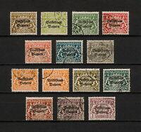(YYAU 790) Bayern 1919, 1920 USED Mi 30 - 43 Sc O20 - O33 DIEN Bavaria Germany