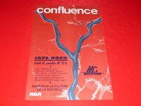 COLL.J. LE BOURHIS AFFICHE CONFLUENCE 1978 LA ROCHELLE FREE JAZZ FUSION QUERLIER