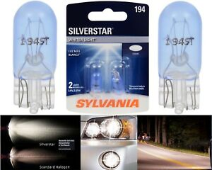 Sylvania Silverstar 194 3.8W Two Bulbs Interior Map Replacement Festoon Upgrade