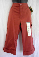 "Lee Stretch Capri Pant Size 10 M NWT Rust Cotton Blend Ins. 17"" Cargo Pocket $42"